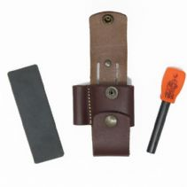 TBS Leather Brown DC4 & Firesteel Pouch Attachment Pouch